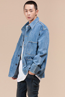 Loose Fit Washed Denim Jacket