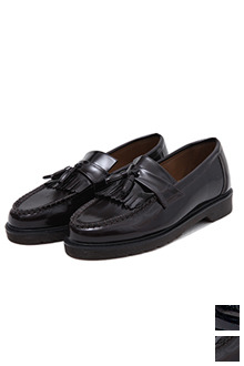 Fringed High Gloss Loafers