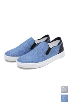 Two Tone Heathered Slip On Shoes