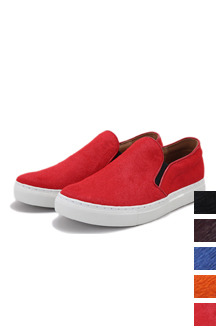 Colored Calfskin Slip On Shoes