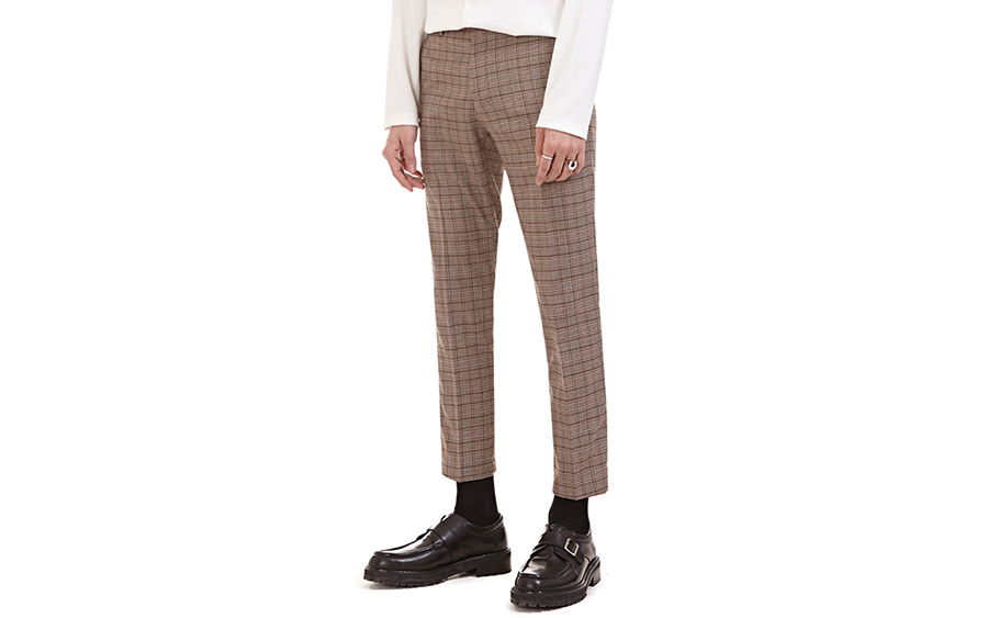 Plaid Pattern Trousers