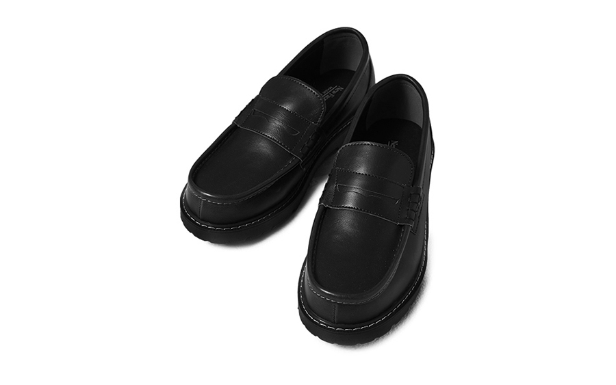Contrast Stitch Accent Loafers