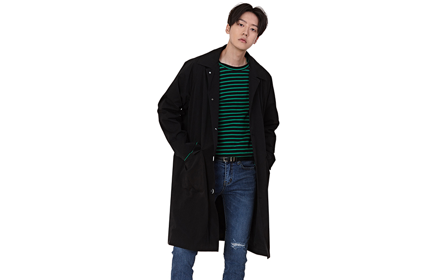 Knee-Length Loose Fit Single-Breasted Coat