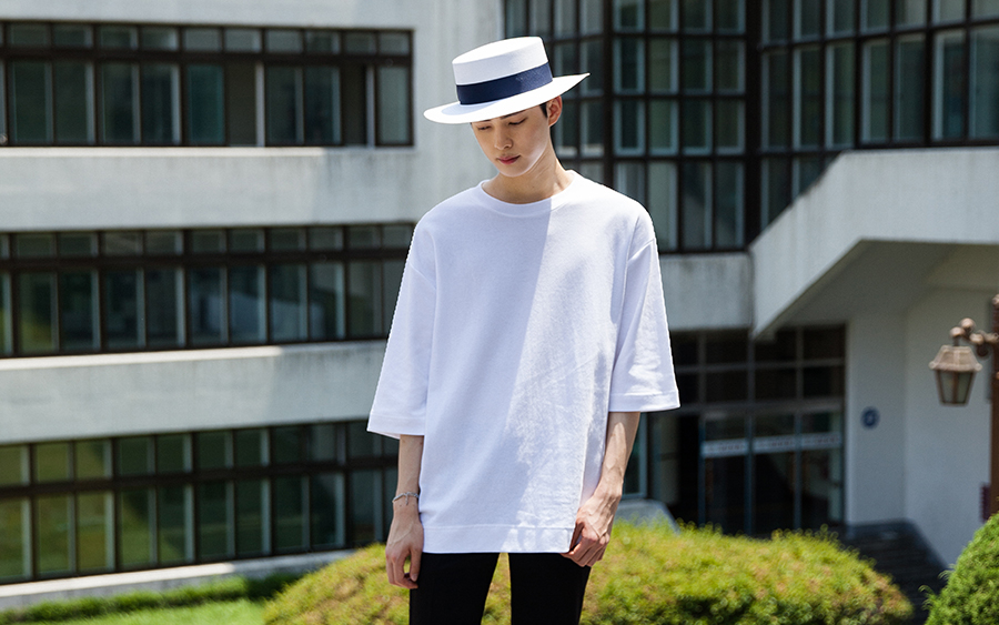 Loose Fit Two-Third Sleeve T-Shirt