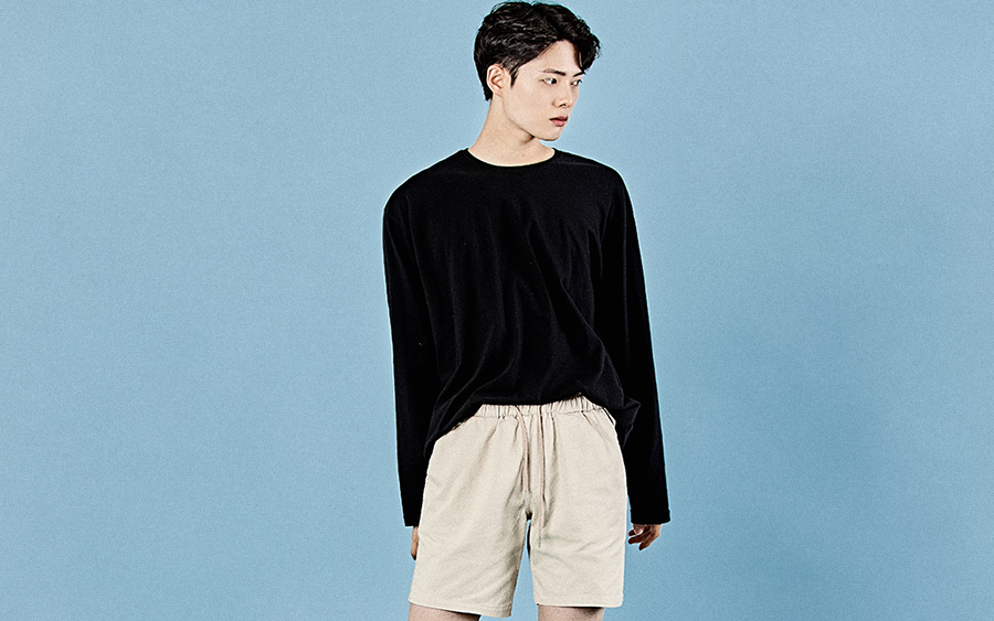 Loose Fit Long-Sleeved Cotton T-Shirt