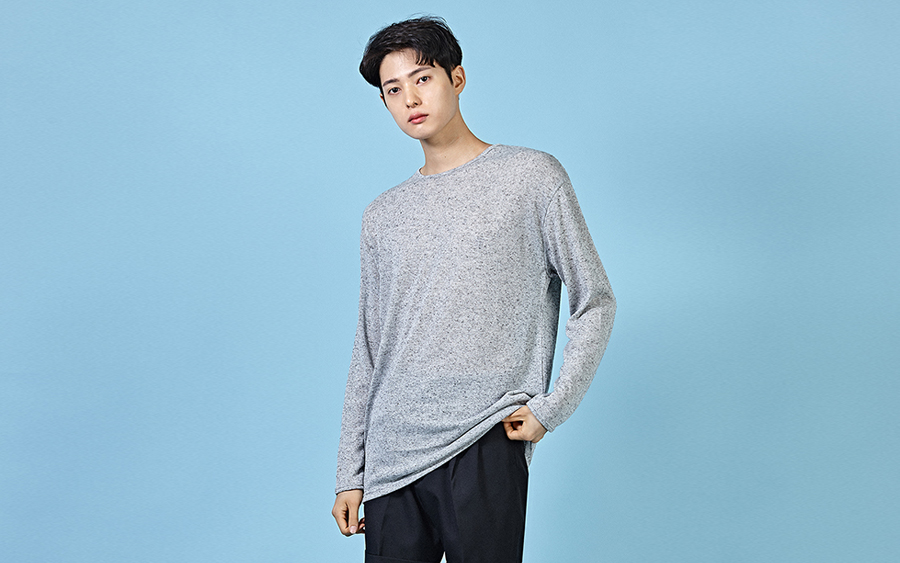 Long Sleeve Melange T-Shirt