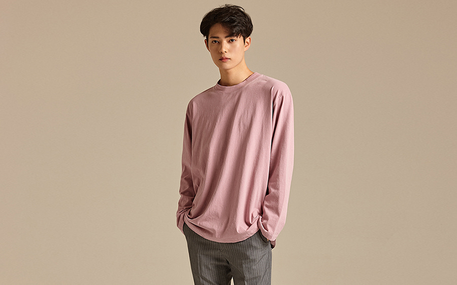 Basic Loose Fit Crew Neck T-Shirt