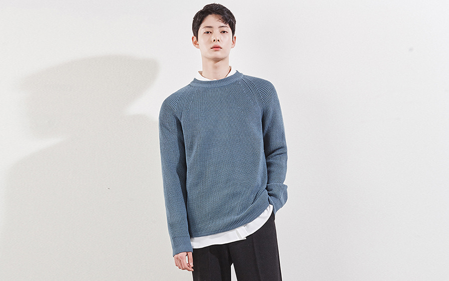 Raglan Ribbed Knit Sweater
