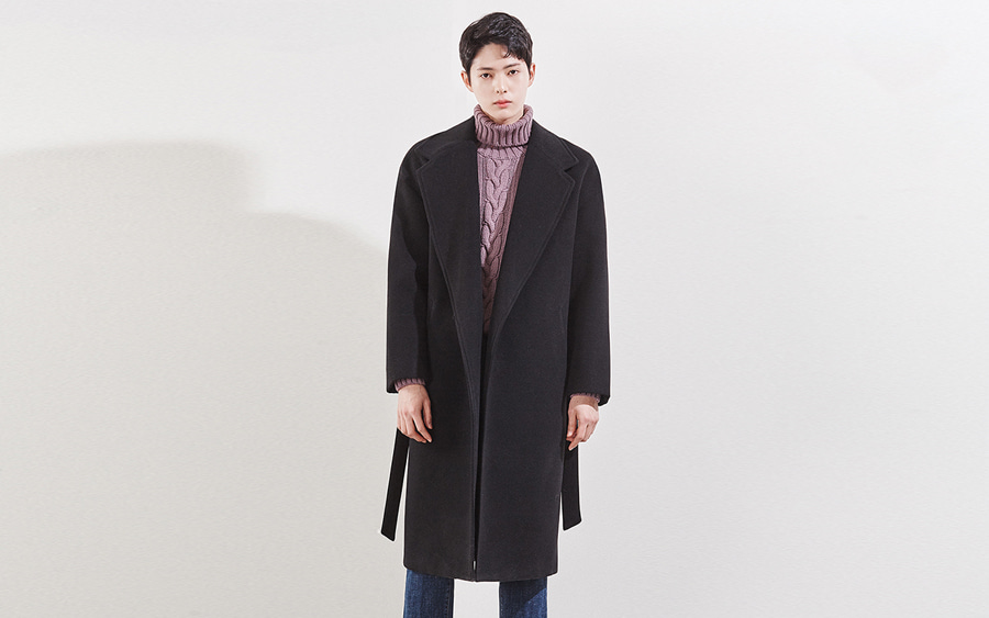 Belted Wide Collar Coat