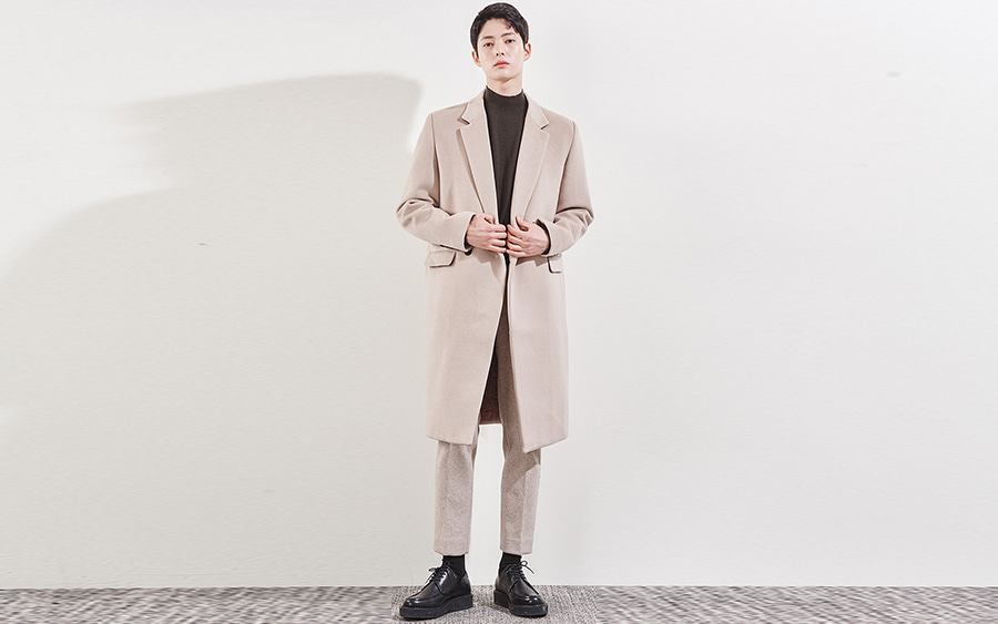 Solid Tone Lapel Coat
