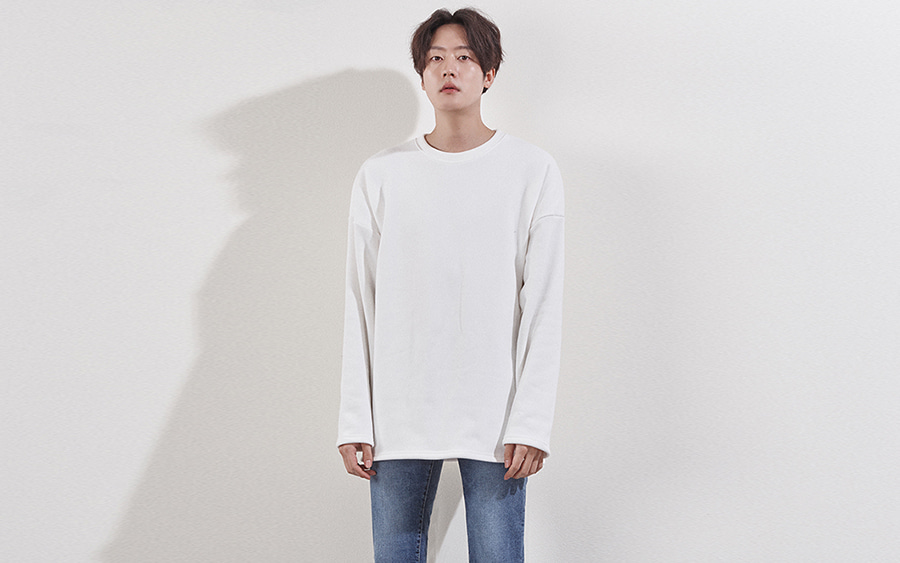Drop Shoulder Single Tone T-Shirt