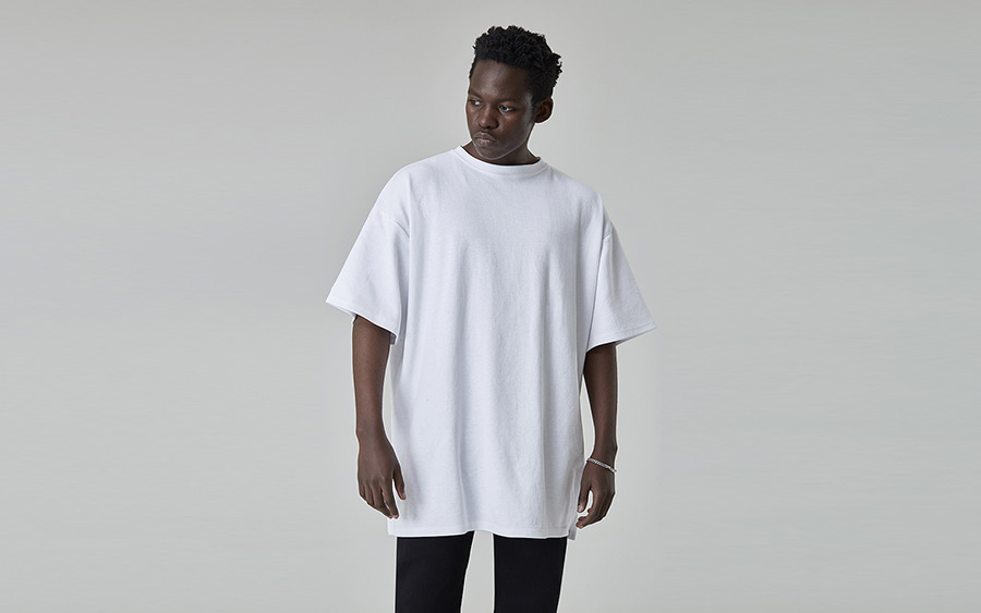 Drop Shoulder Three-Quarter Sleeve T-Shirt