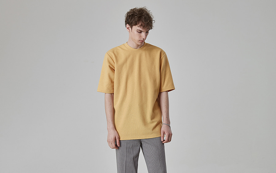Basic Half Sleeve Crew Neck T-Shirt