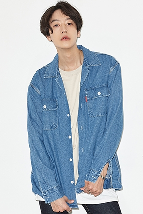 Chest Pocket Denim Button-Down Shirt