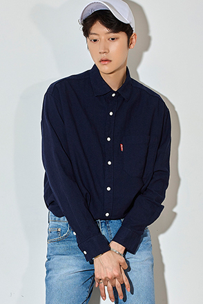 Basic Chest Pocket Button-Down Shirt