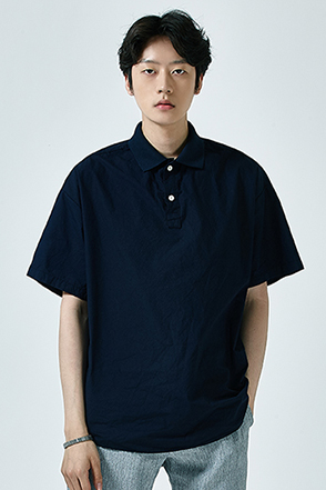 Half-Sleeved Loose Polo Shirt
