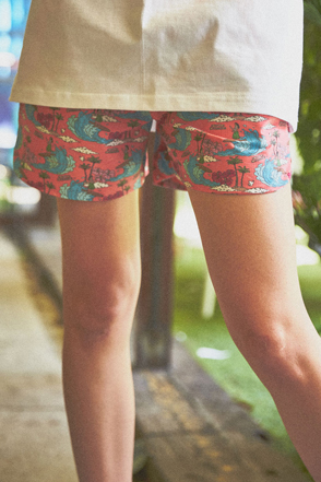 AWESOME IMAGINATIONSummer Theme Print Shorts(Pink)