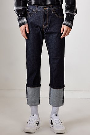 Slim Fit Contrast Stitch Jeans