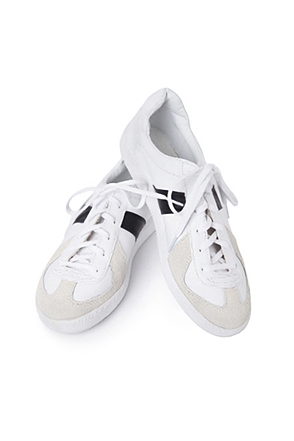 Synthetic Leather Color Accent Sneakers