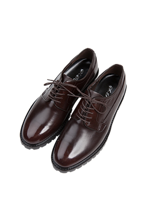 Coated Round Toe Derby Shoes