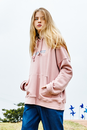 AWESOME IMAGINATIONNEW WAVE Print Hoodie(Pink)