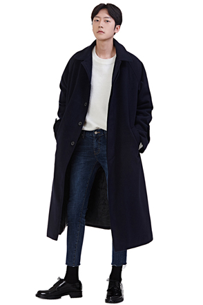 Concealed Button Single Tone Coat