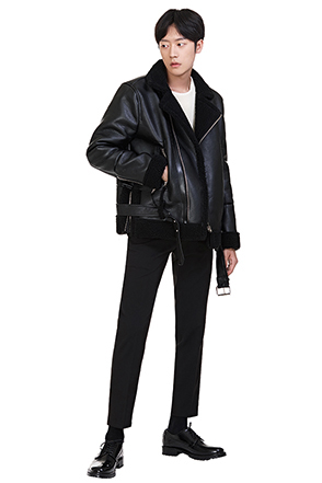 Faux Fleece-Lined Rider Jacket