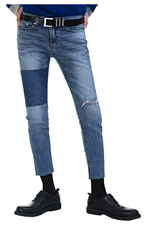 Dark Wash Accent Jeans
