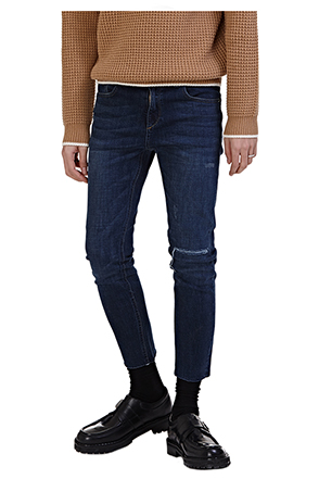 Slash Accent Whisker Wash Jeans