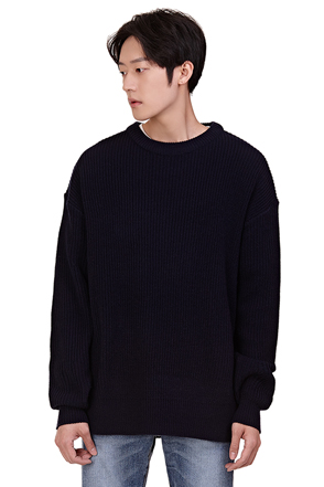 Relaxed Fit Ribbed Sweater