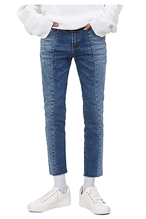 Two-Tone Paneled Jeans