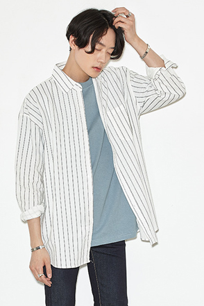 Pinstripe Button-Down Shirt