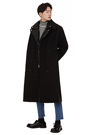Classic Epaulet Double-Breasted Coat