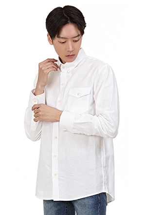 Buttoned Flap Chest Pocket Shirt