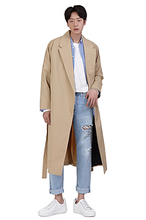Lapel Wrap Coat