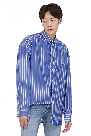 Pencil Stripe Button-Up Shirt