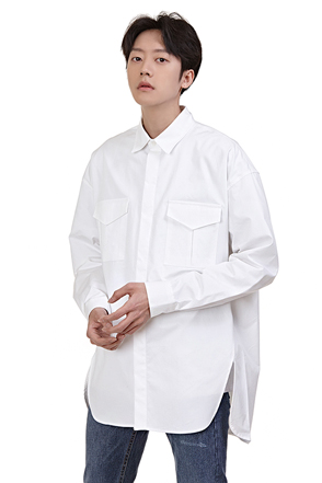 Envelope Pocket Button-Down Shirt