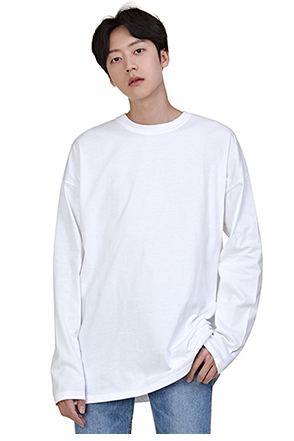 Crew Neck Drop Shoulder T-Shirt