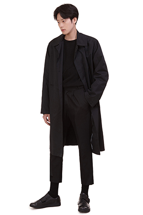 Single Tone Concealed Button Coat