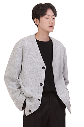 V-Neck Wool Blend Cardigan