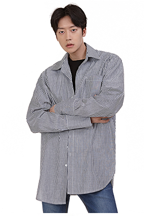 Pinstripe Patch Pocket Button-Down Shirt