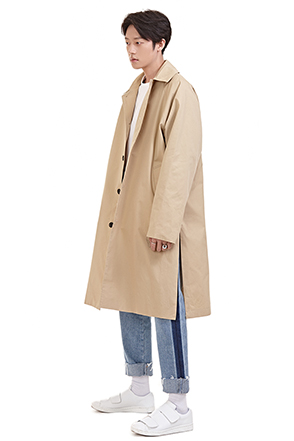 Four-Button Closure Midi Coat