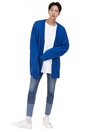 Loose Fit Front Button Cardigan
