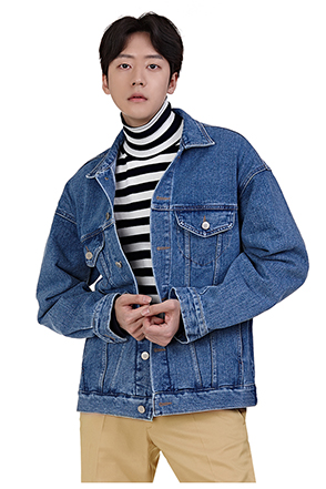 Classic Drop Shoulder Denim Jacket