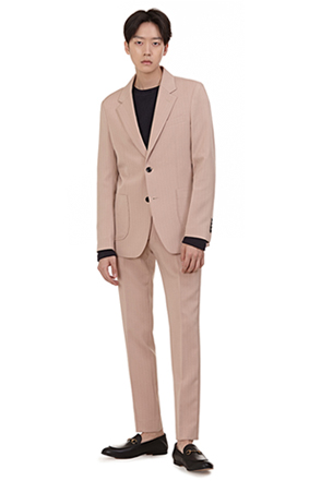 Two-Button Pinstripe Suit Jacket