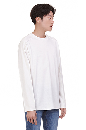 Loose Fit Seam Accent T-Shirt