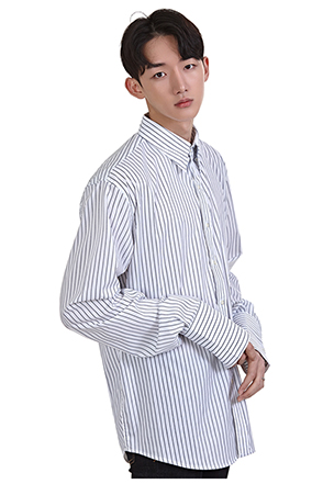 Double Pinstripe Button-Down Shirt