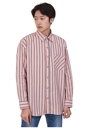 Double Stripe Long-Sleeved Shirt