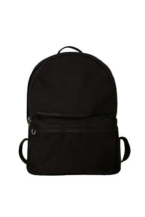Ring Zipper Solid Tone Backpack