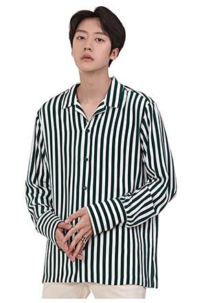 Awning Stripe Button-Down Shirt